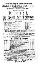 Richard Wagner «Rienzi, der Letzte der Tribunen»