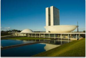 Бразильский национальный конгресс. Построен в начале 60-х годов.